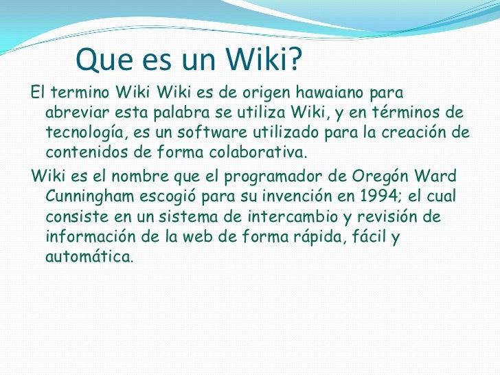 Que son wikis y como funcionan for Que significa contemporaneo wikipedia
