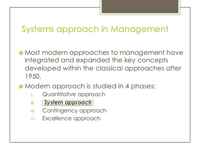 classical approach to management essay