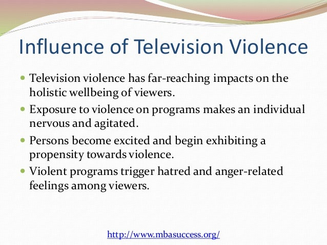 an essay on television violence Sample expository essay on television and youth violence there has been a lot of research conducted on the notions that violence portrayed in media - such as television, video, film, music, newspapers and books - can have adverse effects on the children viewing it many people have suggested that media has allowed.
