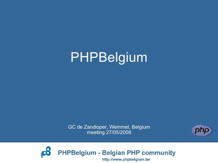 Introduction to PHPBelgium
