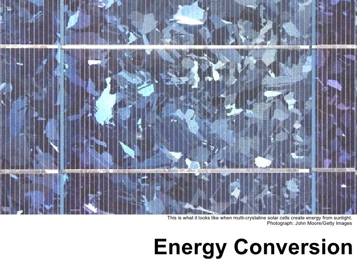 Energy Conversion and Emmisions
