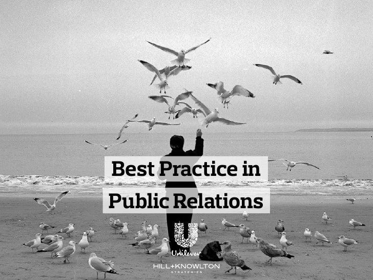 Best Practice inPublic Relations