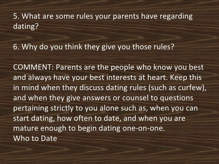 What are good dating rules