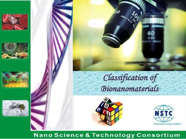 Classification of Bionanomaterials