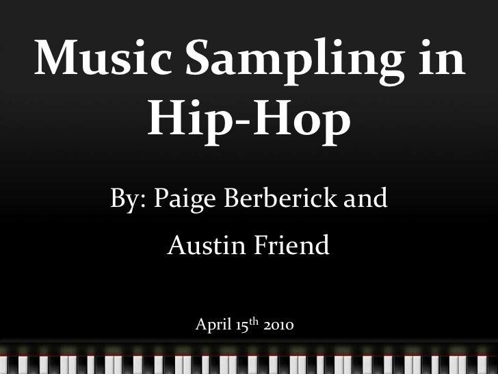 Music: Sampling in Hip-Hop