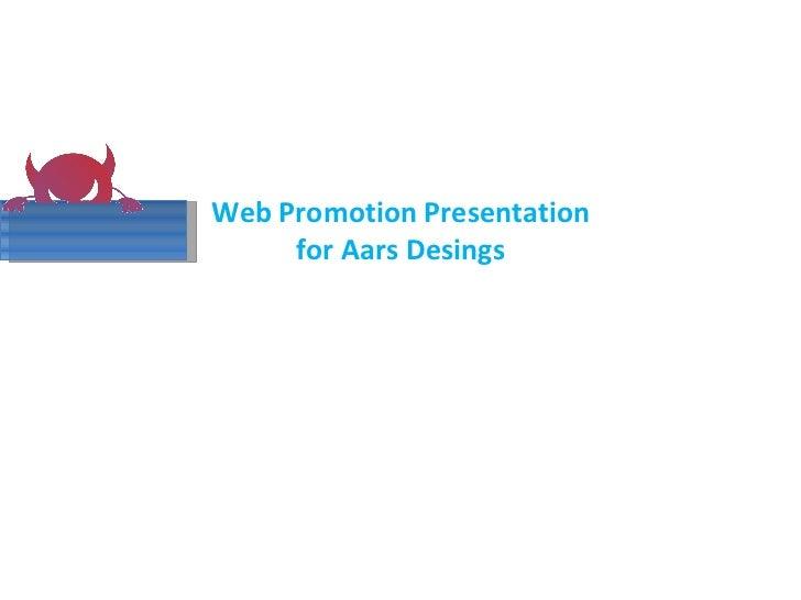 Web Promotion Presentation for Aars Desings