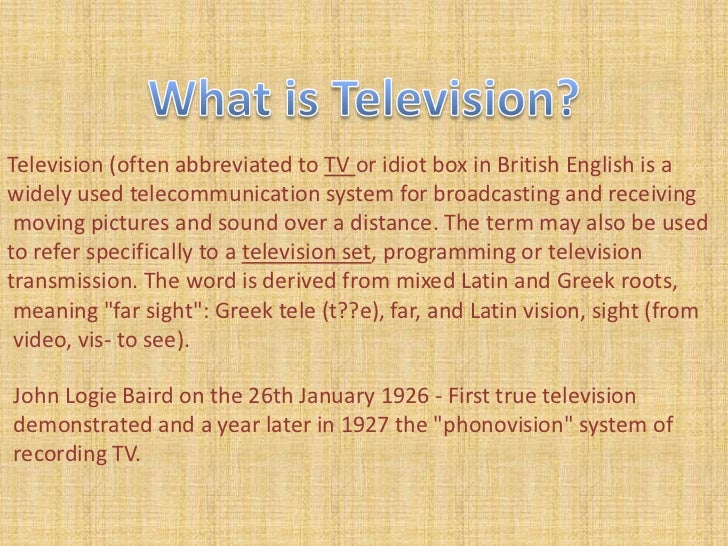 religious programmes on television essay Short essay on the impact of television on this can go a long way in providing guidelines for future developmental programmes of television essays , letters.