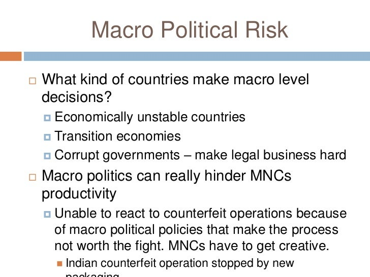 macro and micro political risk russia Classified as macro and micro,  finally collapsed-this caused a macro political risk for all companies  faced a political risk in russia in terms of.