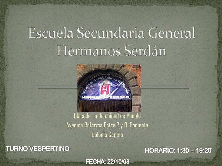 Ubicada  en la cuidad de Puebla Avenida Reforma Entre 7 y 9  Poniente Colonia Centro