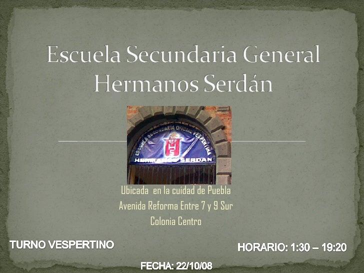 Ubicada  en la cuidad de Puebla Avenida Reforma Entre 7 y 9 Sur Colonia Centro