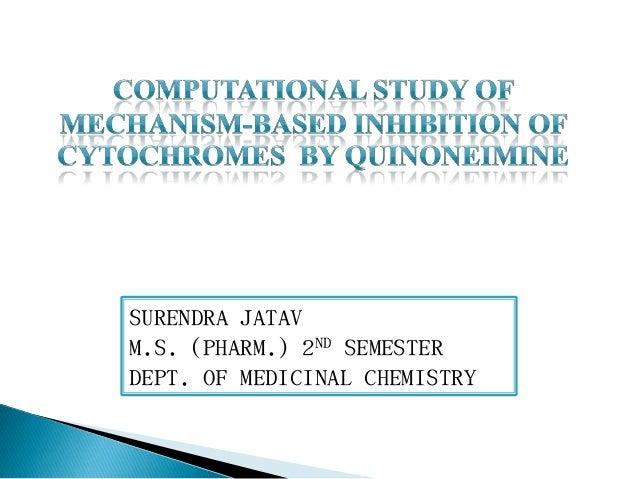 SURENDRA JATAVM.S. (PHARM.) 2ND SEMESTERDEPT. OF MEDICINAL CHEMISTRY