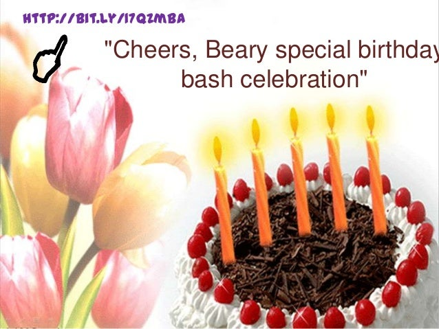"""Cheers, Beary special birthdaybash celebration""http://bit.ly/17qZmBa"