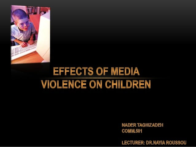 research paper on media violence and children