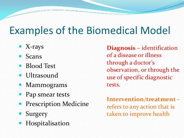 Biomedical model of Health and Illness - Essay Example