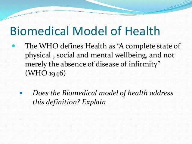biomedical and social model of health essay