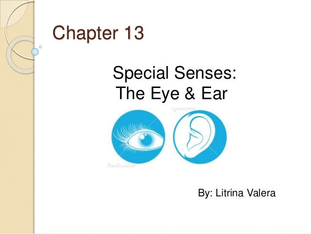 Chapter 13 Special Senses: The Eye & Ear By: Litrina Valera