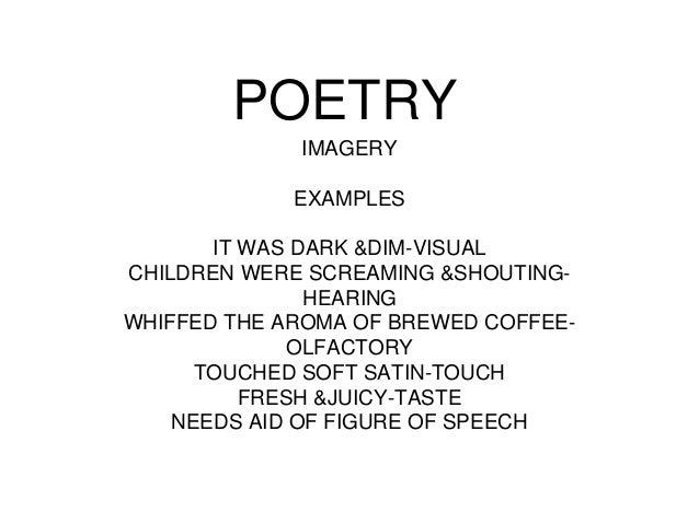EXAMPLES OF IMAGERY - alisen berde