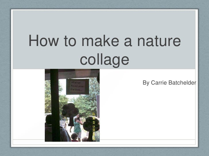How to make a nature       collage              By Carrie Batchelder