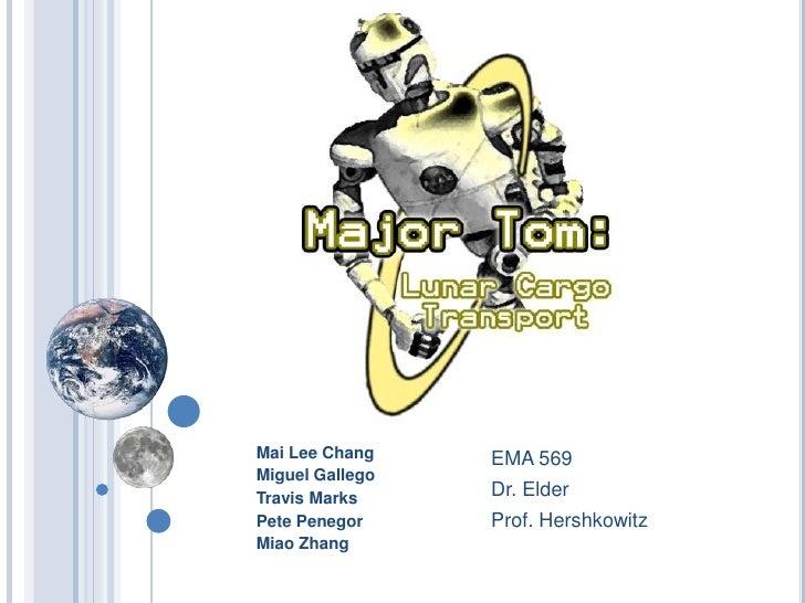 Mai Lee Chang<br />Miguel Gallego<br />Travis Marks<br />Pete Penegor<br />Miao Zhang<br />EMA 569<br />Dr. Elder<br />Pro...