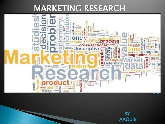 Major areas of marketing research