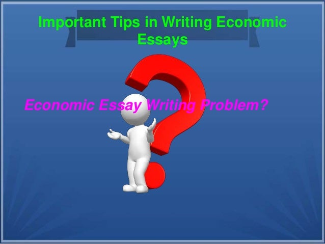 Economics essay writers