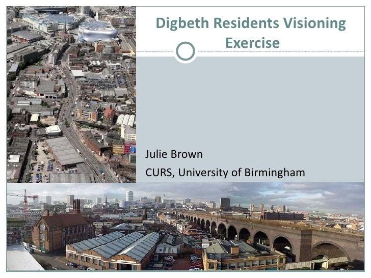 Dr Julie Brown's Digbeth Presentation