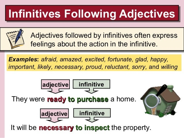 Presentation 6 Infinitives