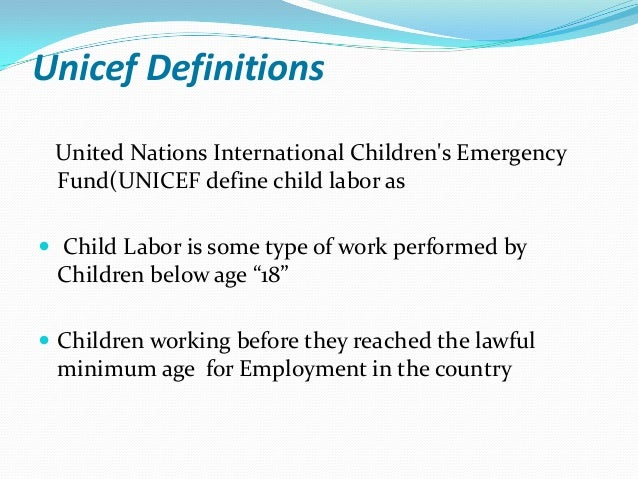 definition of child labor pdf