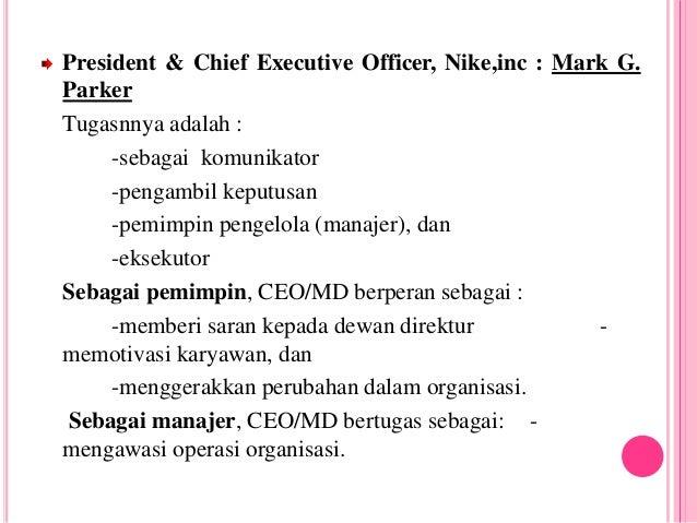 Manajer Dan Contoh Dalam Perusahaan Nike
