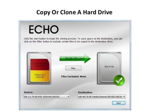 how to make an image copy of a hard drive