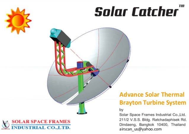 AdvanceSolarThermal Brayton TurbineSystem  airscan_us@yahoo.com  12/6/2013