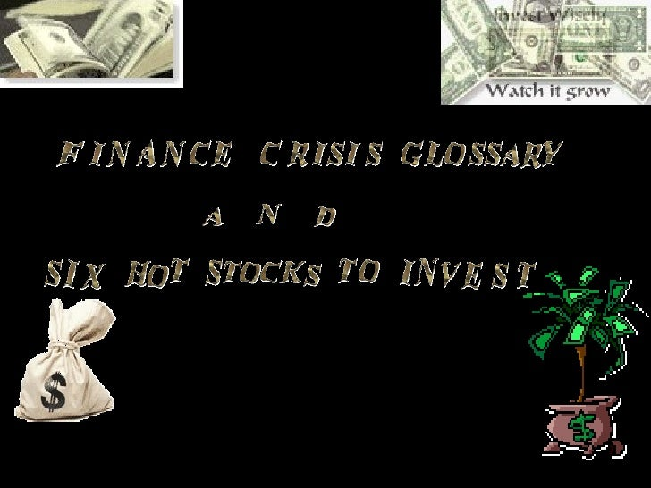 fianance crisis glossary