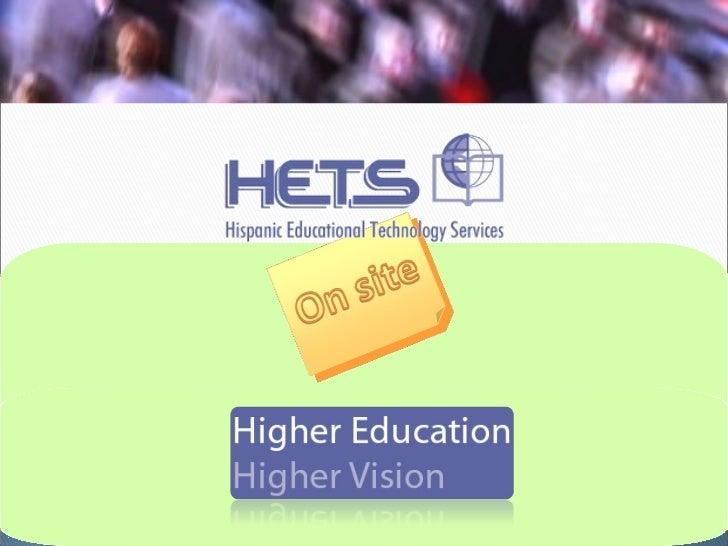 Presentation about hets 07 revised nov-07