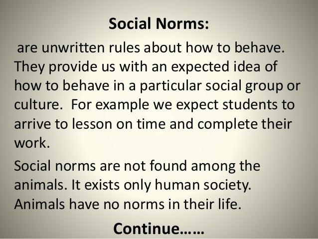Social Norms Violation