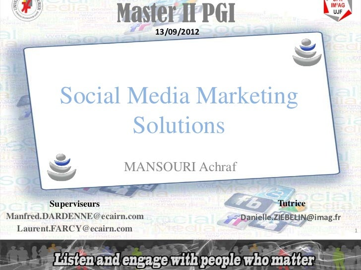 Master II PGI                              13/09/2012                Social Media Marketing                       Solution...