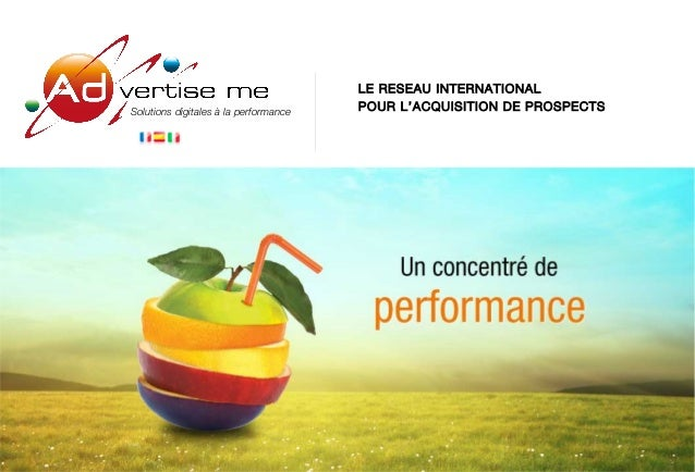 Plaquette Advertise me 2012 expert de la coregistration media et de l'e-mailing à la performance