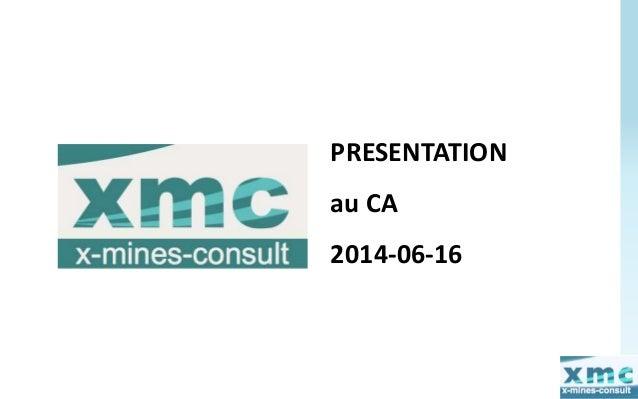 PRESENTATION  au CA  2014-06-16