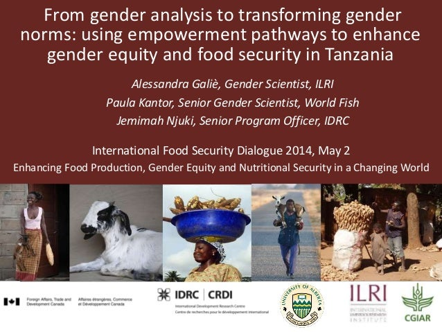 From gender analysis to transforming gender norms: using empowerment pathways to enhance gender equity and food security i...