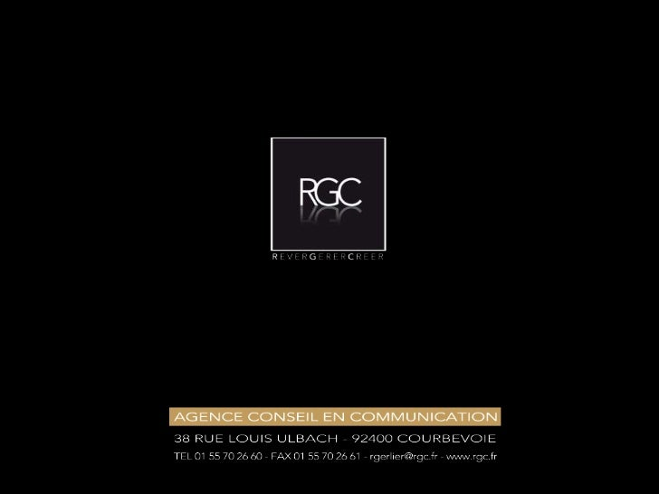 Présentation Agence RGC