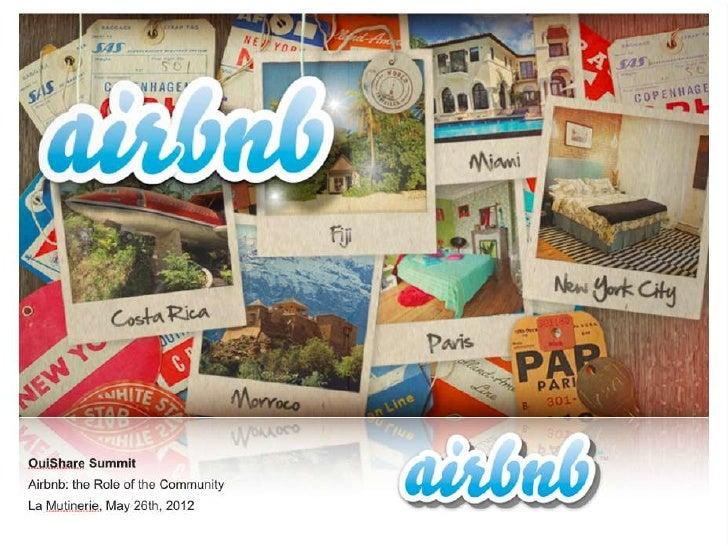 AirBnB Keynote @ OuiShare Summit Paris