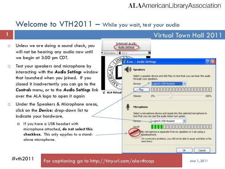 ALA 2011 Virtual Town Hall Slides