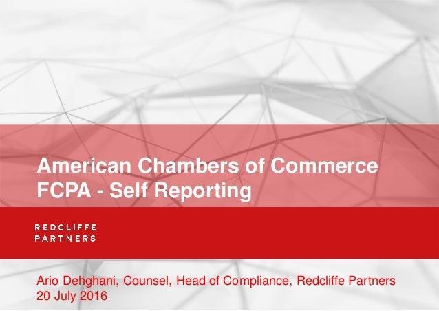 American chambers of commerce fcpa self reporting ario for American chambre of commerce