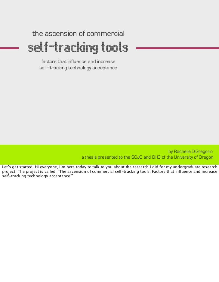 Self-Tracking Technology Acceptance