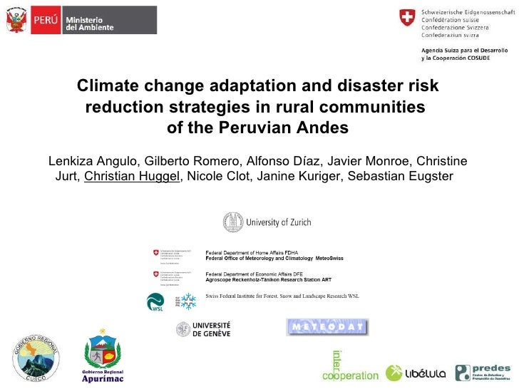 Climate change adaptation and disaster risk reduction strategies in rural communities of the Peruvian Andes