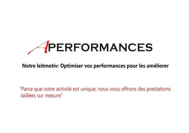 Presentation Africa Performances