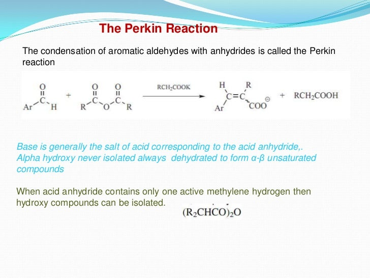 perkin reaction synthesis of phenylcinnamic acid Connect to download get pdf cinnamic acid derivatives as anticancer agents-a review.