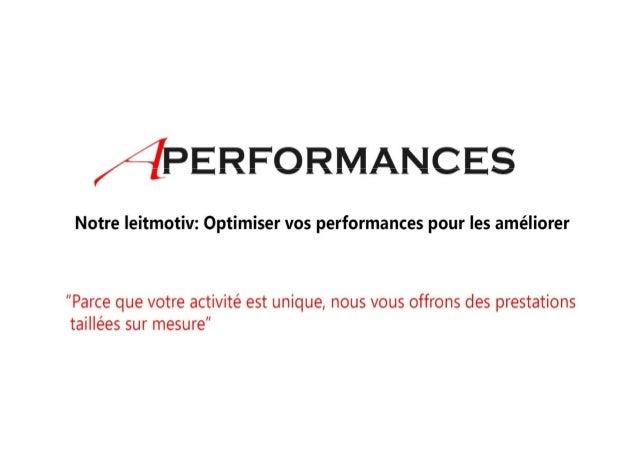 Presentation APerformances