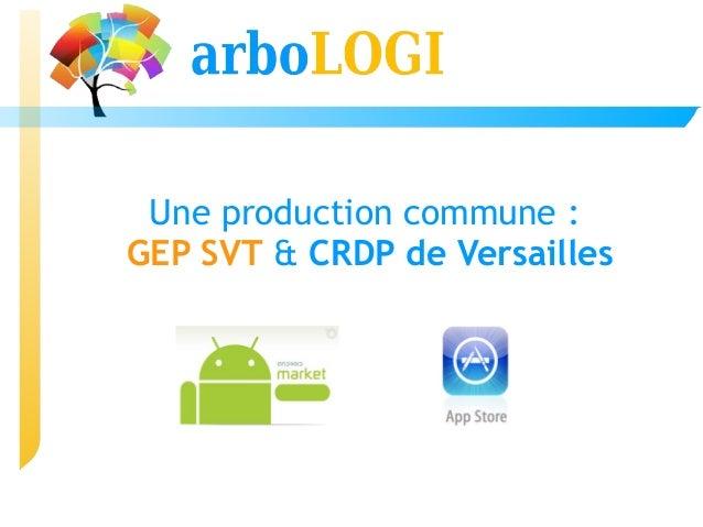 Une production commune:GEP SVT & CRDP de Versailles
