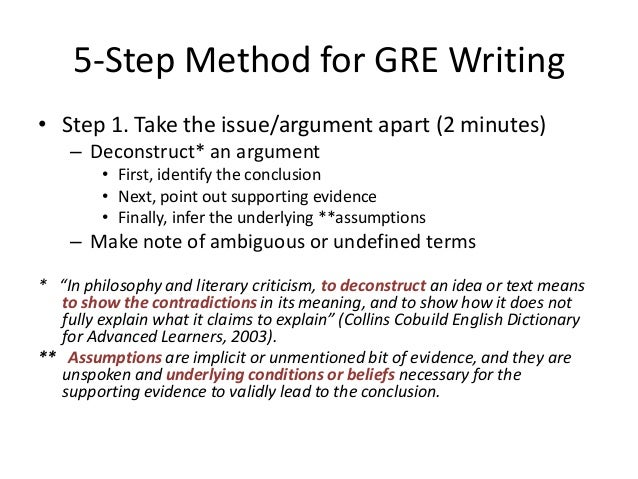 argument essay gre For the gre, you need to compose an issue and an argument essay, and at mygretutor we review the essay format, and review how to write well.