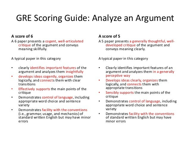 GRE Revised General Test: Analyze an Argument - ETS